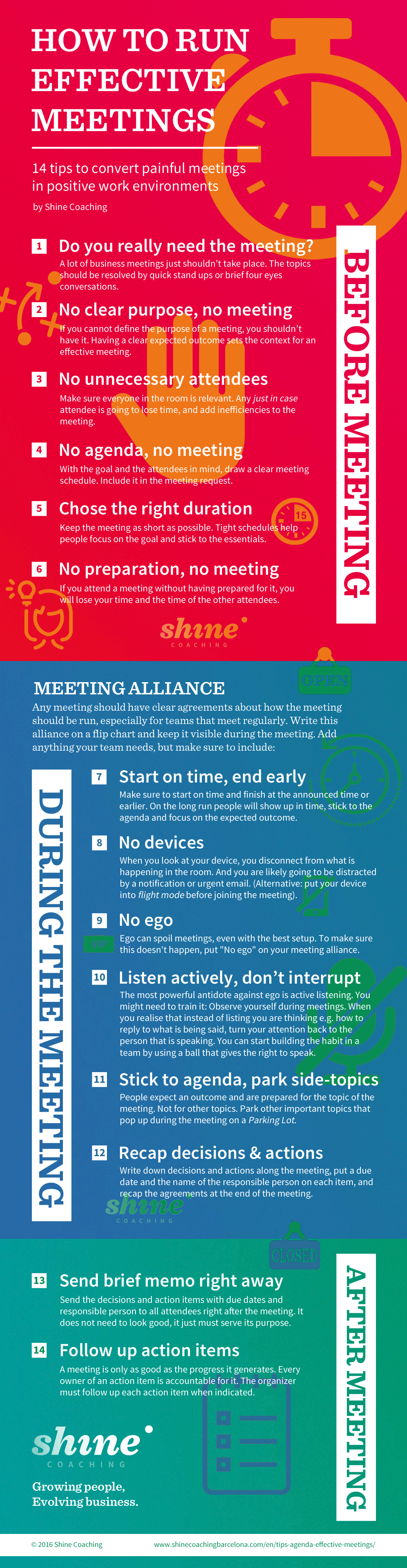 How to hold a successful meeting: 9 practical tips