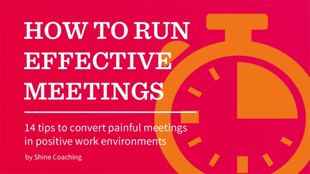 Title image of how to run effective meetings