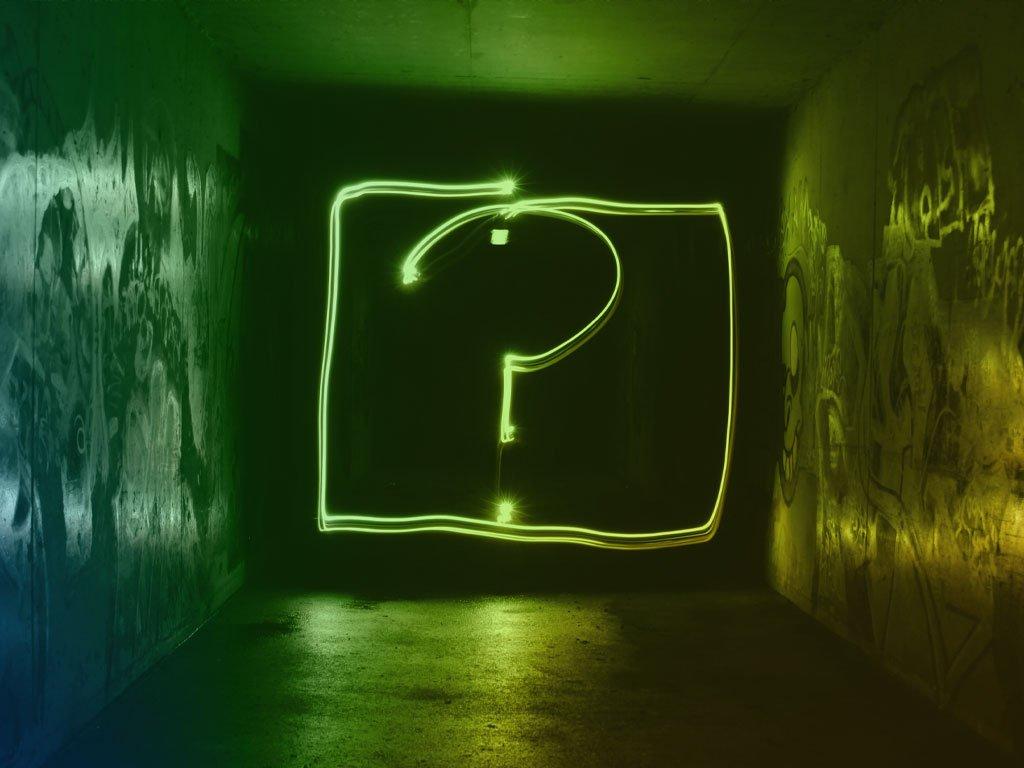 Punto de interrogación como símbolo para preguntarse por qué debo decir no